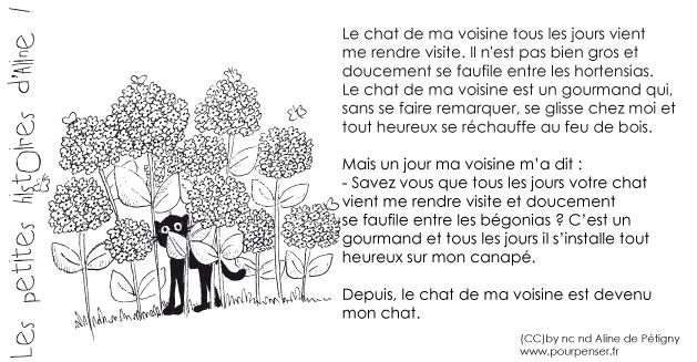 Aline de Pétigny - Le chat de la voisine