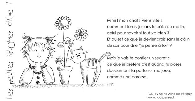 Aline de Pétigny - Mimi, mon chat
