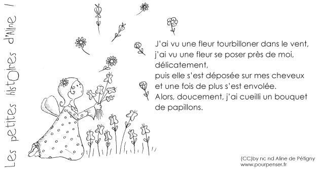 Aline de Pétigny - Une fleur dans le vent